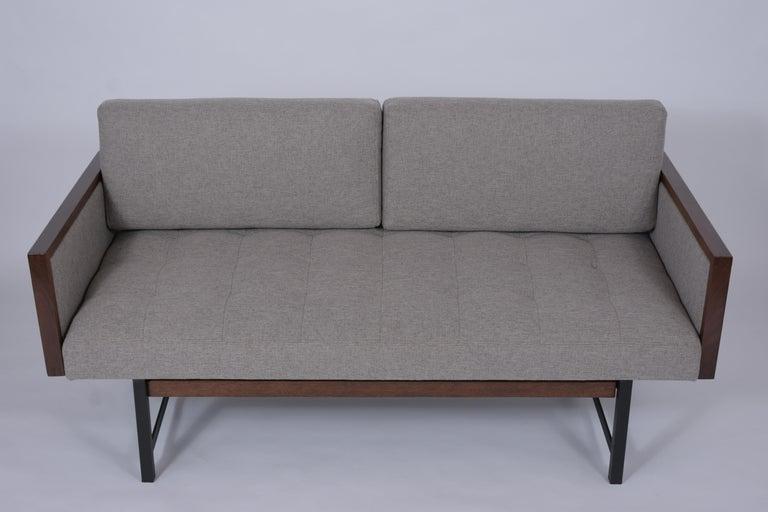 American Vintage Modern Tufted Sofa For Sale