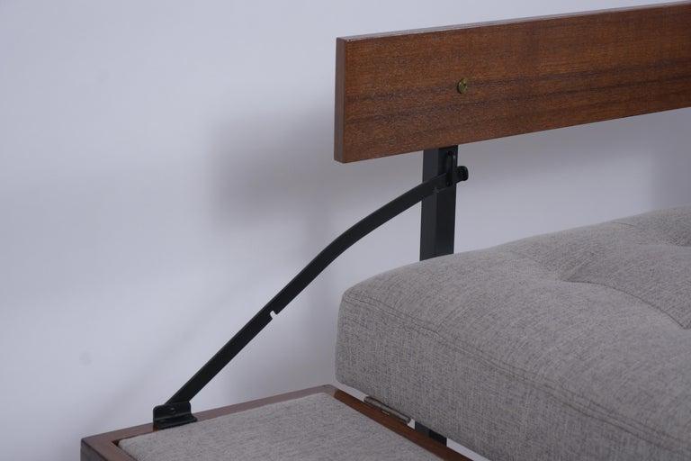 Metal Vintage Modern Tufted Sofa For Sale