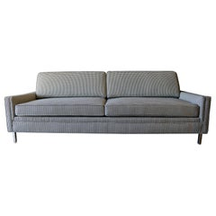 Mid-Century Modern Sofa in Black and White Houndstooth, circa 1955