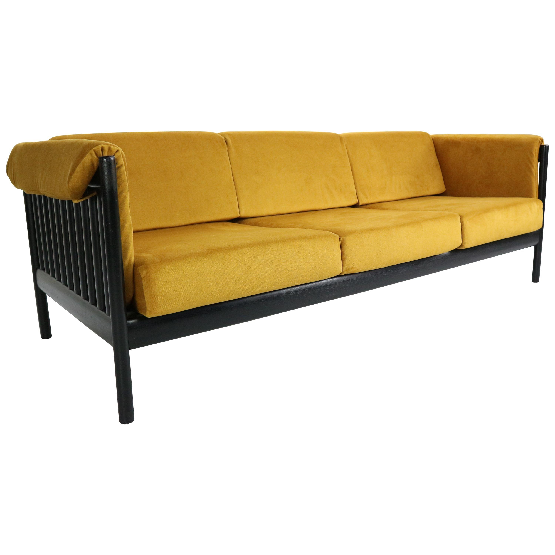 Mid-Century Modern Sofa in Yellow Velvet by Johannes Andersen, 1960s, Denmark