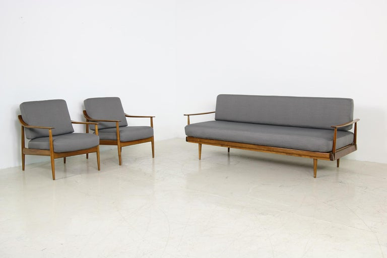 Mid-Century Modern Sofa, Knoll, Germany 1960s Beechwood, Daybed For Sale 6
