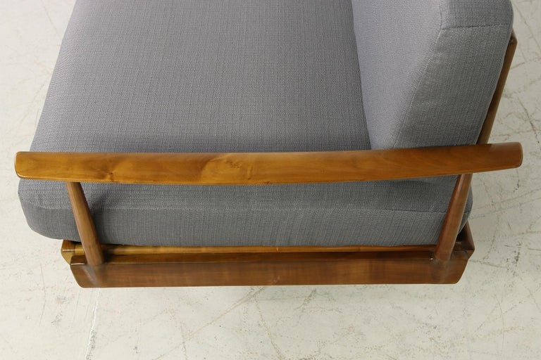 Mid-Century Modern Sofa, Knoll, Germany 1960s Beechwood, Daybed In Good Condition For Sale In Hamminkeln, DE