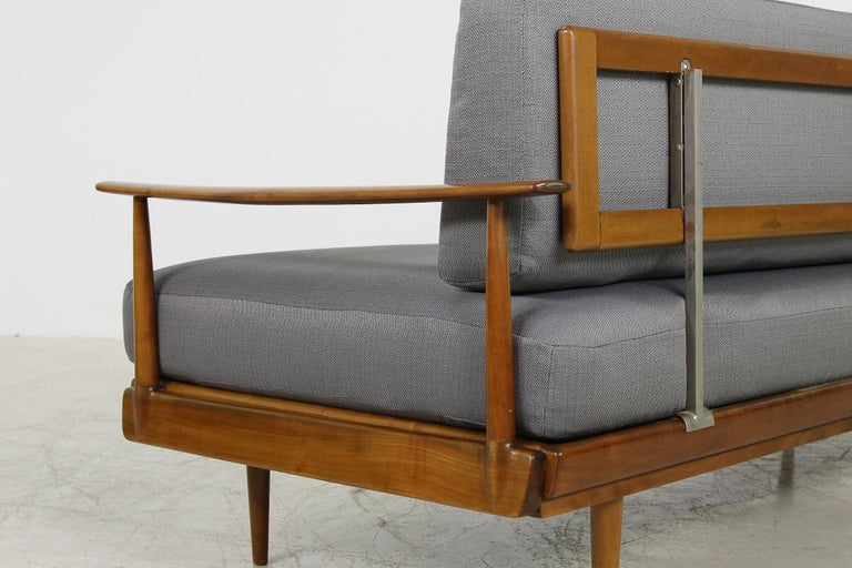 Mid-20th Century Mid-Century Modern Sofa, Knoll, Germany 1960s Beechwood, Daybed For Sale