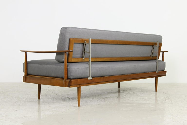 Mid-Century Modern Sofa, Knoll, Germany 1960s Beechwood, Daybed For Sale 2