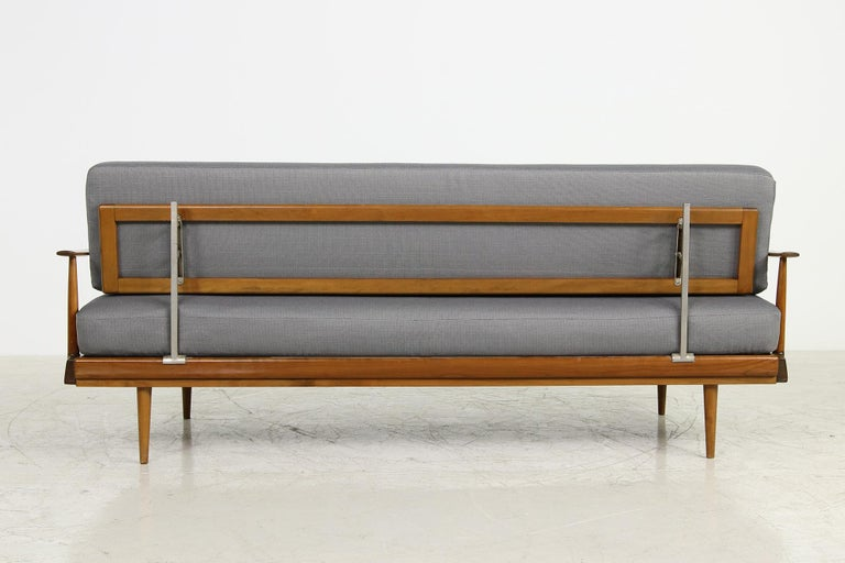 Mid-Century Modern Sofa, Knoll, Germany 1960s Beechwood, Daybed For Sale 3