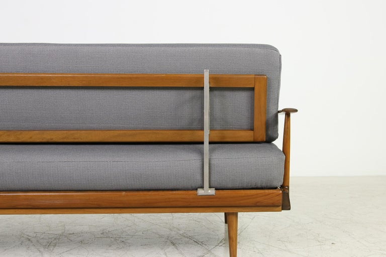 Mid-Century Modern Sofa, Knoll, Germany 1960s Beechwood, Daybed For Sale 4