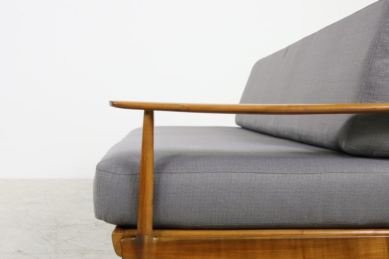 Mid-Century Modern Sofa, Knoll, Germany 1960s Beechwood, Daybed For Sale 5