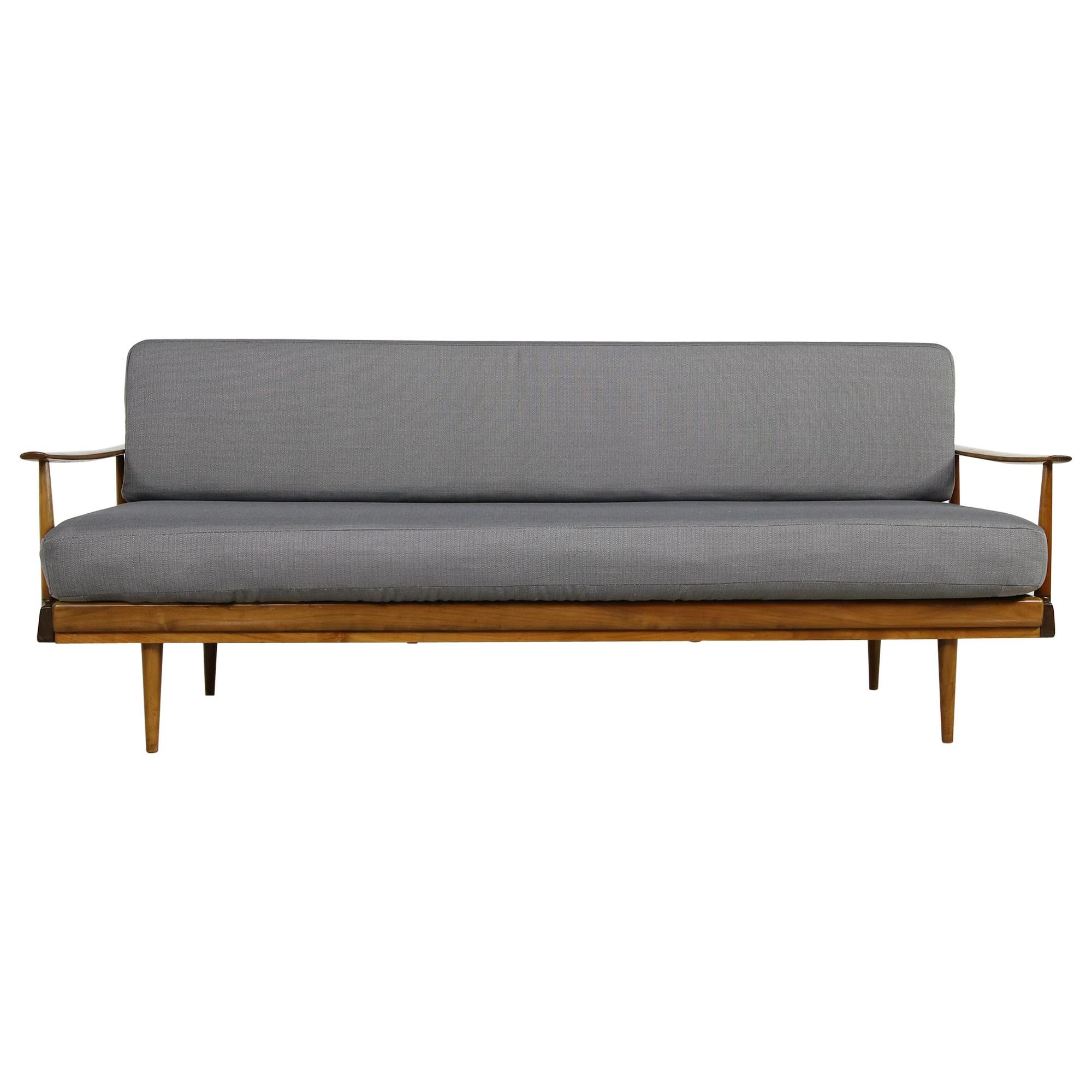 Genial Mid Century Modern Sofa, Knoll, Germany 1960s Beechwood, Daybed At 1stdibs
