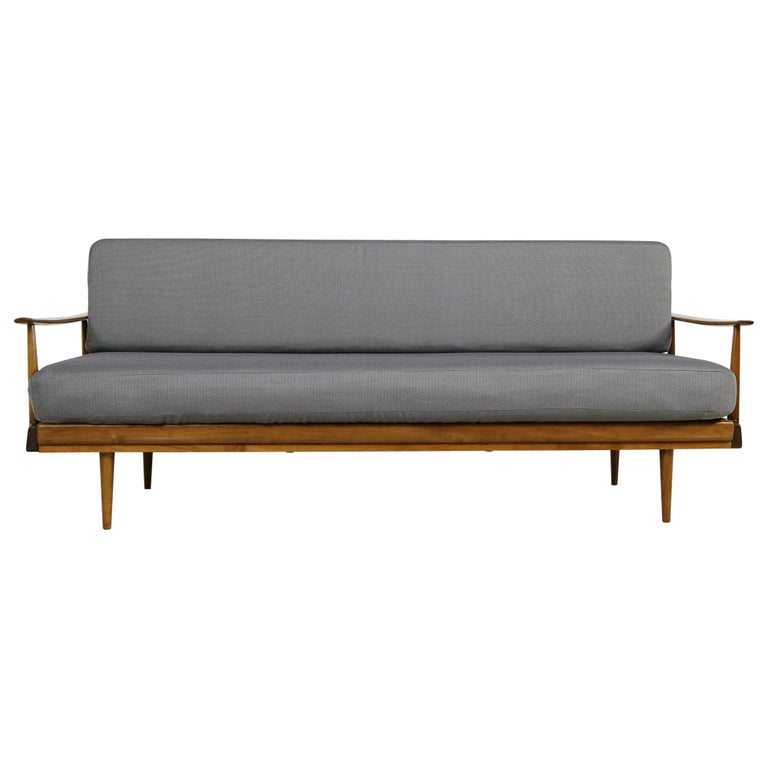 Mid-Century Modern Sofa, Knoll, Germany 1960s Beechwood, Daybed For Sale