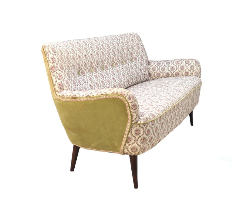Other Mid-Century Modern Sofa Loveseat Settee Manner of Gio Ponti For Sale