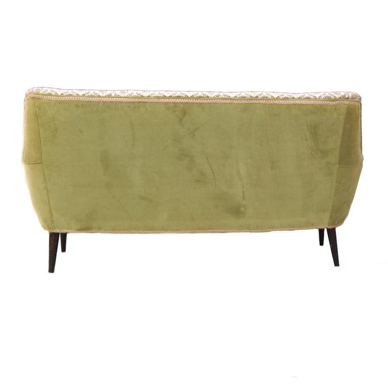 Mid-20th Century Mid-Century Modern Sofa Loveseat Settee Manner of Gio Ponti For Sale