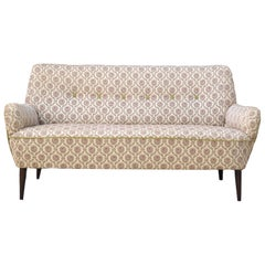 Mid-Century Modern Sofa Loveseat Settee Manner of Gio Ponti