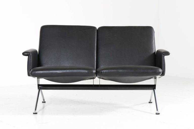 Mid-20th Century Mid-Century Modern Sofa No. 1705 by Andre Cordemeijer for Gispen, 1961 For Sale