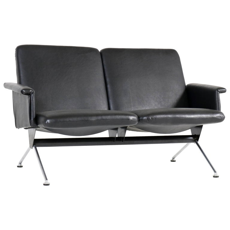 Mid-Century Modern Sofa No. 1705 by Andre Cordemeijer for Gispen, 1961 For Sale
