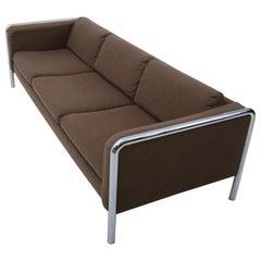 Mid-Century Modern Sofa on Tubular Chrome, 1970s