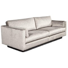 Mid-Century Modern Sofa with Ceruse Oak Base