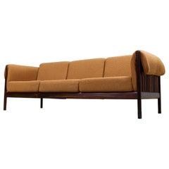 Mid-Century Modern Sofa with Slat Back by Johannes Andersen, 1950s, Denmark