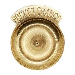 Mid-Century Modern Solid Brass Pocket Change Vide Poche Trinket Dish or Catchall