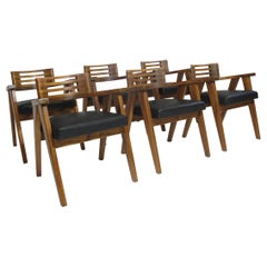 Mid-Century Modern Solid Koa Dining Chairs