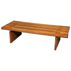 Mid-Century Modern Solid Oak Coffee Table by Lane, circa 1950