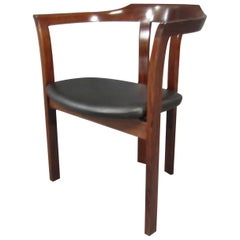 Mid-Century Modern Solid Rosewood Armchair Chair
