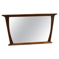 Mid-Century Modern Solid Walnut Mirror