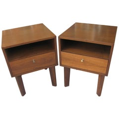 Mid-Century Modern Solid Walnut Night Tables