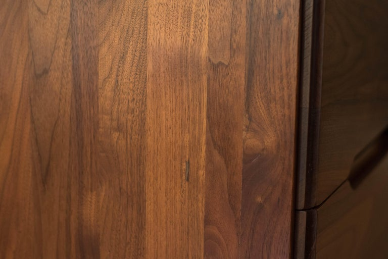 Mid-Century Modern Solid Walnut Triple Dresser 6