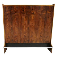 Mid-Century Modern Solid Wood Covered with Rosewood American Bar