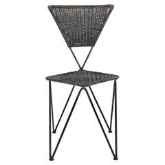Mid-Century Modern Sonett Wicker Chair by Karl Fostel Sen. Erben, circa 1950