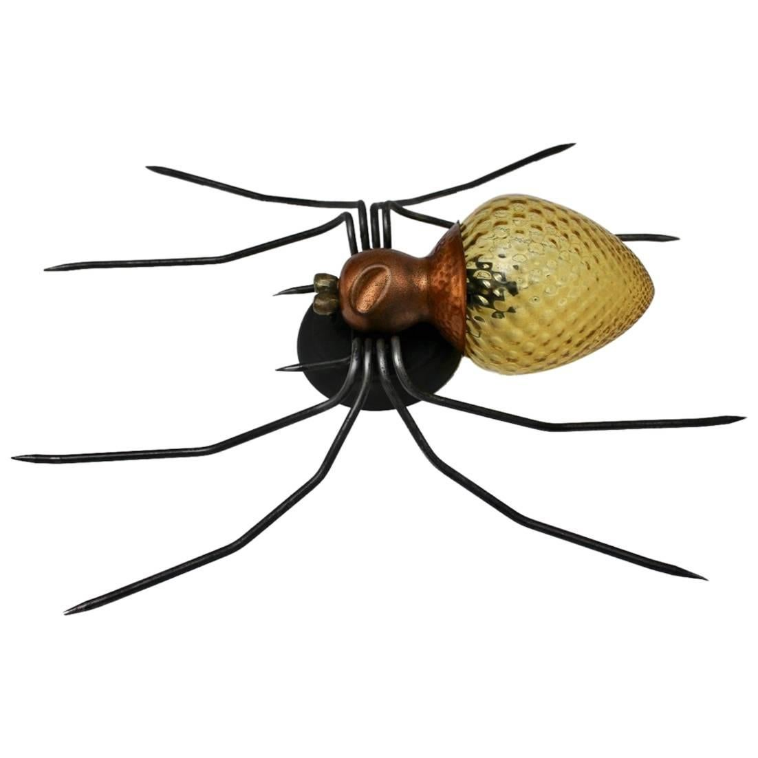Mid-Century Modern Vintage Spider Wall Lamp 1950s Italy