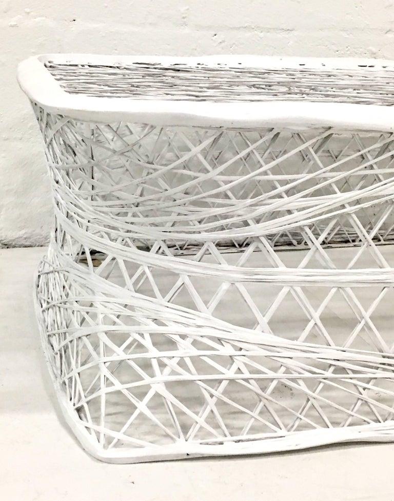 Mid Century Modern Spun Fiberglass Chaise Lounge Chair By