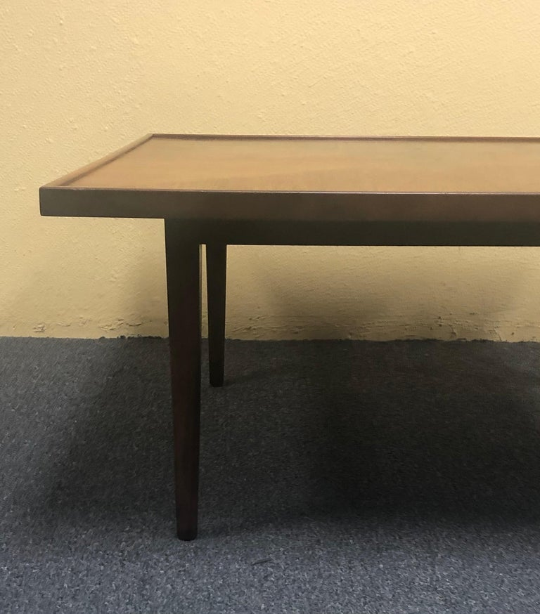 20th Century Mid-Century Modern Square Coffee Table in Walnut For Sale