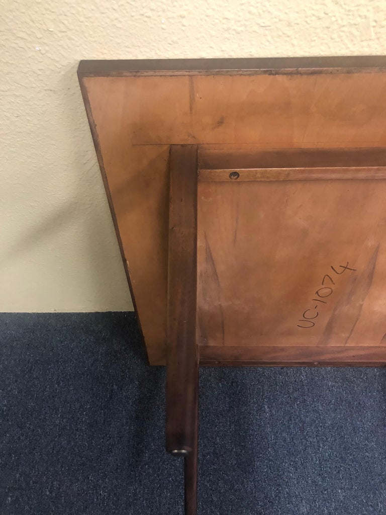 Mid-Century Modern Square Coffee Table in Walnut For Sale 2