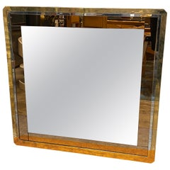 Mid-Century Modern Square Wall Mirror, Italy, 1970