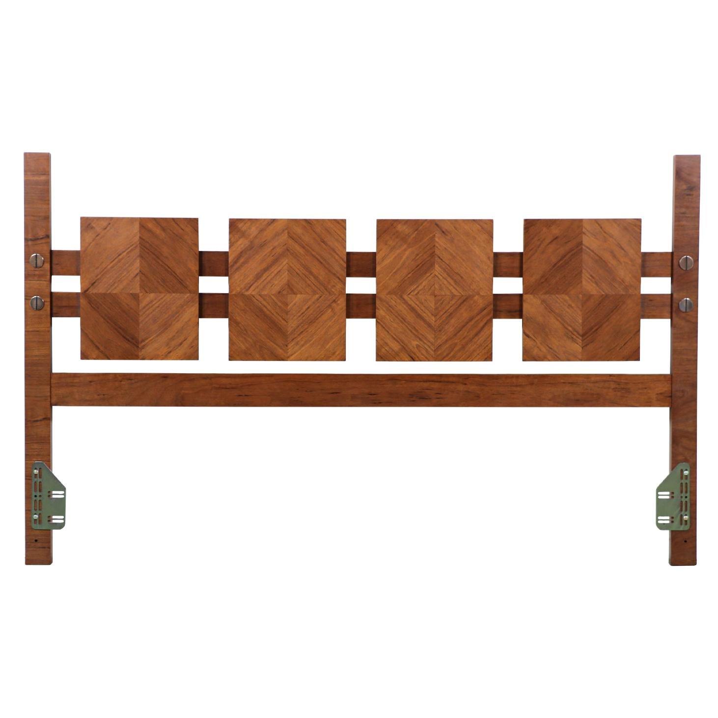 "Mid-Century Modern ""Stacatto"" CA-King Geometric Headboard by Lane Furniture"