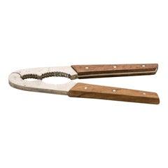 Mid Century Modern Stainless Steel Rosewood Nutcracker Bar Tool Utensil