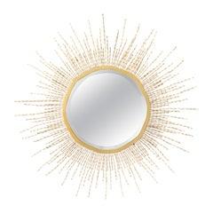 Mid-Century Modern Starburst Beaded Mirror