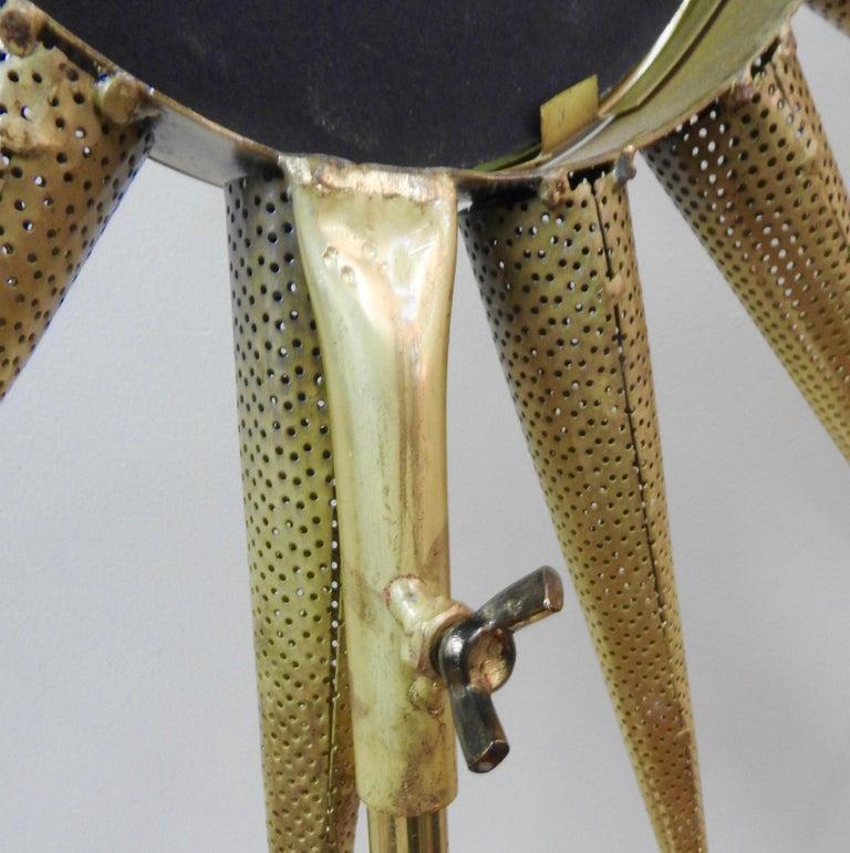 Mid-Century Modern Starburst Mirror on Stand For Sale 2