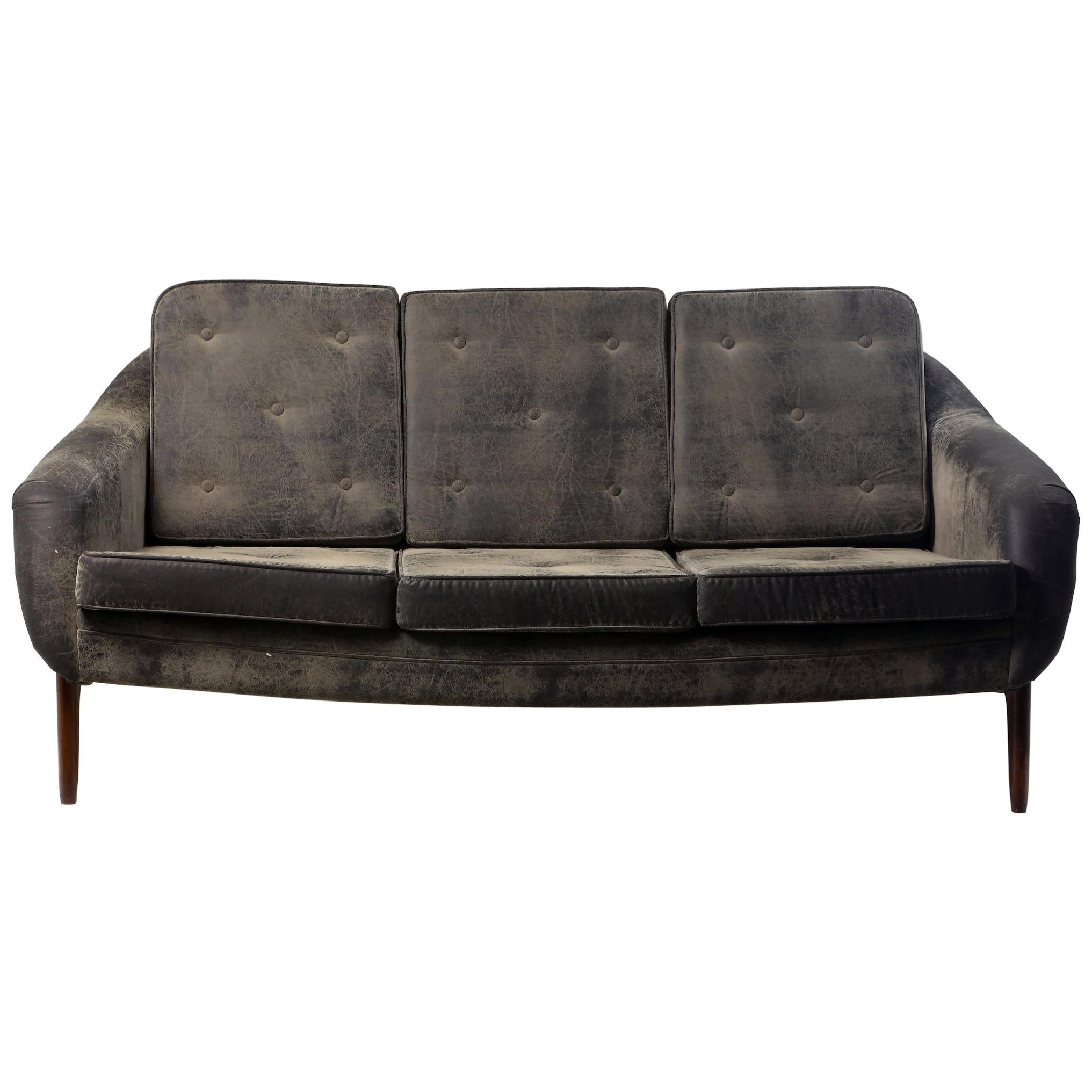 """Mid-Century Modern """"Stella"""" Sofa Couch by Sergio Rodrigues, Brazil 1950's"""