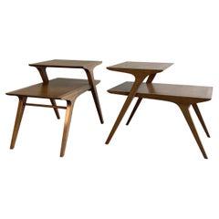 Mid-Century Modern Step End Tables by John Van Koert for Drexel