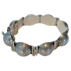 Mid-Century Modern Sterling Bracelet Designed by Antonio Belgiorno, 1950´S