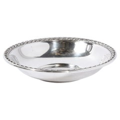 Mid-Century Modern Sterling Silver Beaded Decorative Dish/ Bowl