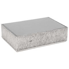 Mid-Century Modern Sterling Silver Bridge Box by Gerald Benney, London, 1970