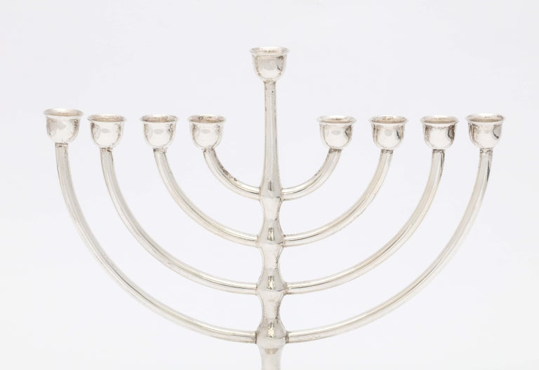 Mexican Mid-Century Modern Sterling Silver Menorah