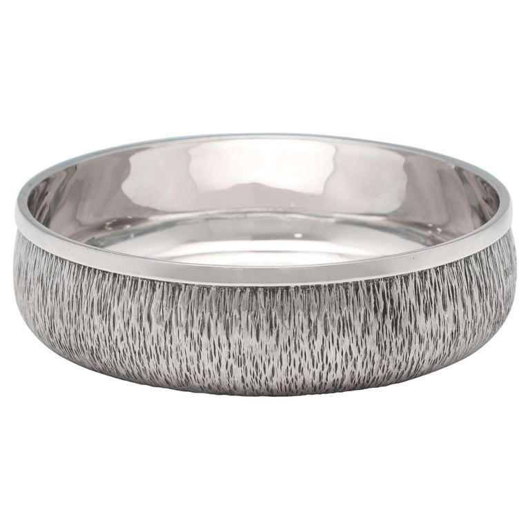 Mid-Century Modern Sterling Silver Wine Coaster by Gerald Benney For Sale