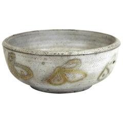 Mid-Century Modern Stoneware Pottery Bowl