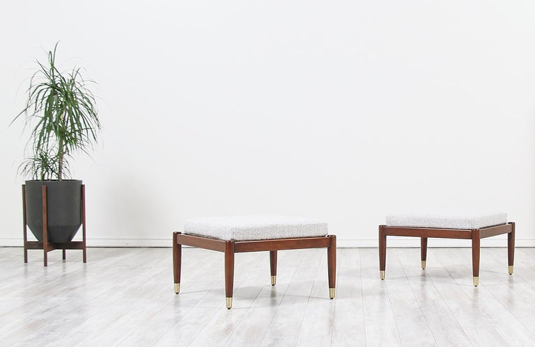Mid-Century Modern Stools by Folke Ohlsson for DUX For Sale 3