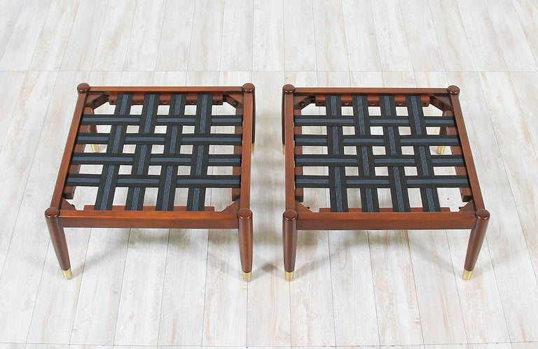 Mid-Century Modern Stools by Folke Ohlsson for DUX For Sale 5