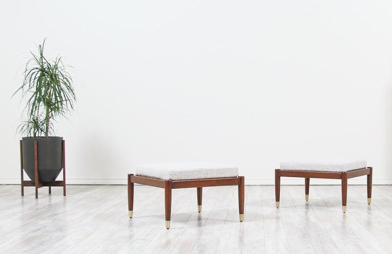 Scandinavian Modern Mid-Century Modern Stools by Folke Ohlsson for DUX For Sale